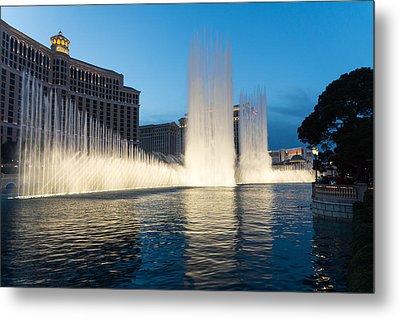 Crescendo - The Glorious Fountains At Bellagio Las Vegas Metal Print by Georgia Mizuleva