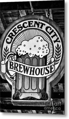 Crescent City Brewhouse - Bw Metal Print