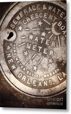 Crescent City Water Meter Metal Print