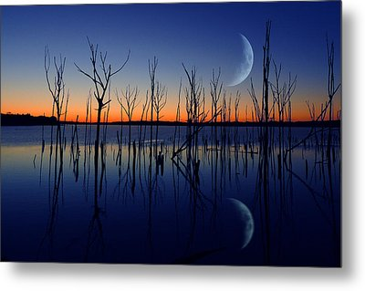 The Crescent Moon Metal Print
