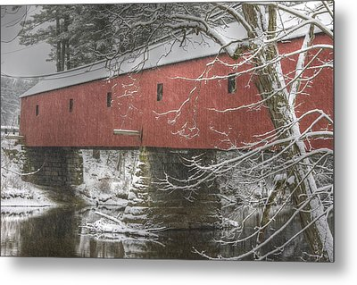 Cresson Bridge  Nh Metal Print by Gail Maloney