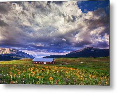 Crested Butte Morning Storm Metal Print by Darren  White
