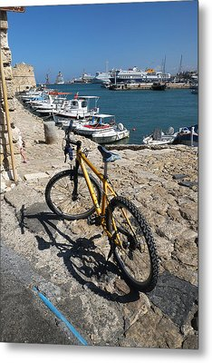 Crete Bicycle Metal Print by John Jacquemain