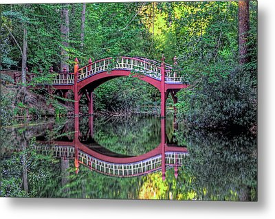 Crim Dell Bridge In Summer Metal Print