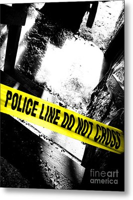 Crime Scene Metal Print by Olivier Le Queinec
