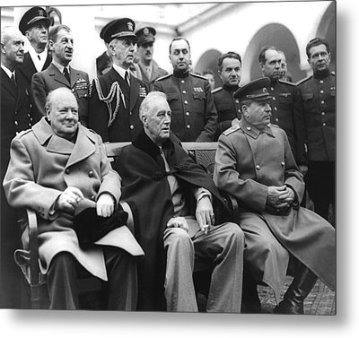 Crimean Conference In Yalta Metal Print by Underwood Archives