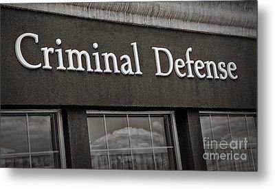 Criminal Defense Law Practice Metal Print by Phil Cardamone