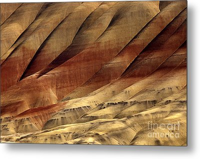 Crimson And Gold Metal Print by Mike  Dawson
