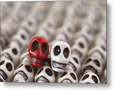 Crimson And White Metal Print by Mike Herdering