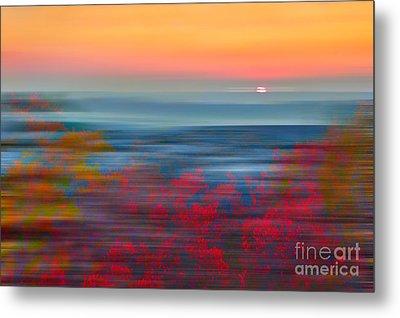 Crimson Dawn - A Tranquil Moments Landscape Metal Print by Dan Carmichael