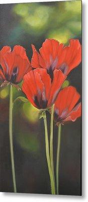 Crimson Petals Metal Print