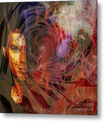 Crimson Requiem - Square Version Metal Print