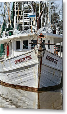 Crimson Tide At Fly Creek  Portrait Metal Print by Lynn Jordan