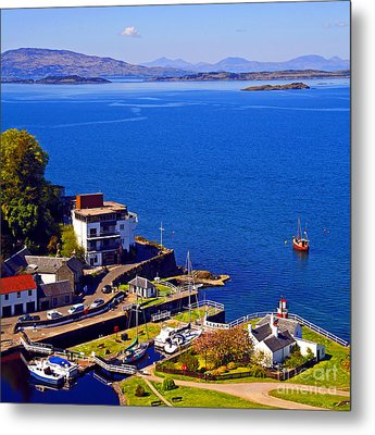 Crinan Harbour Scotland Metal Print by Craig B