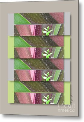 Metal Print featuring the photograph Crinum Lily Collage3 by Darla Wood