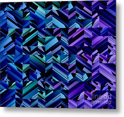 Criss Cross Blues Metal Print