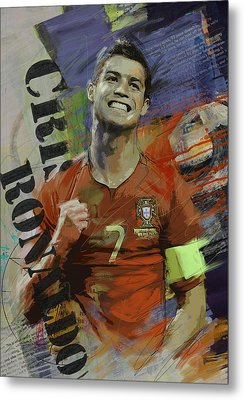 Cristiano Ronaldo - B Metal Print by Corporate Art Task Force