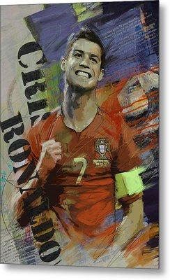 Cristiano Ronaldo - B Metal Print