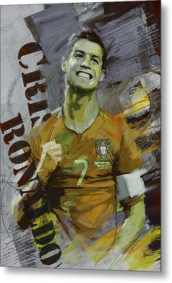Cristiano Ronaldo Metal Print by Corporate Art Task Force