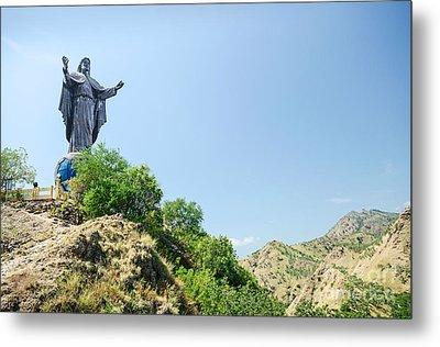 Cristo Rei Statue Near Dili East Timor Timor Leste Metal Print