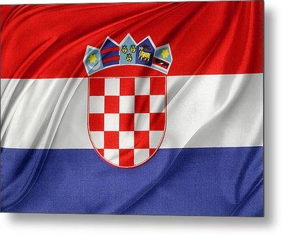 Croatian Flag Metal Print by Les Cunliffe