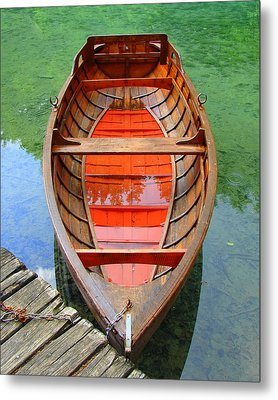 Croatian Rowboat Metal Print by Ramona Johnston