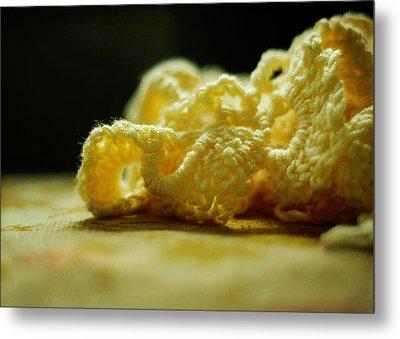 Crocheted Sunshine Metal Print by Rebecca Sherman