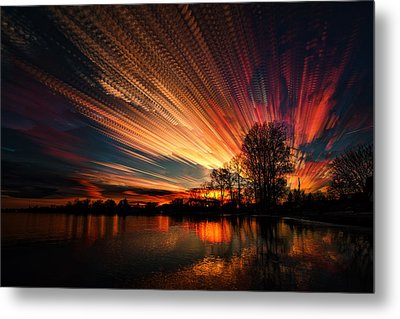 Crocheting The Clouds Metal Print by Matt Molloy