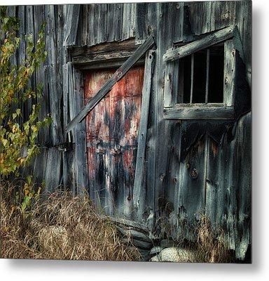 Crooked Barn - Rustic Barns Series  Metal Print
