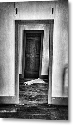 Crooked Door Metal Print