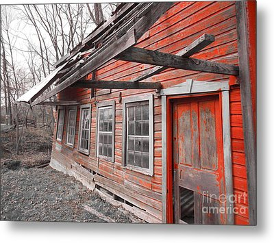 Crooked House Metal Print by Sharon Costa