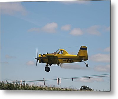 Crop Dusting Metal Print by Victoria Sheldon