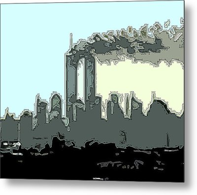 Cropped Outline Metal Print by James Kosior