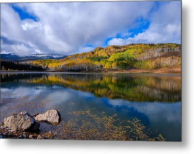 Crosho Lake Reflection Metal Print by John McArthur