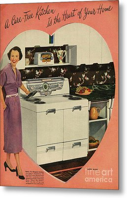 Crosleys  1950s Uk Cookers Kitchens Metal Print by The Advertising Archives