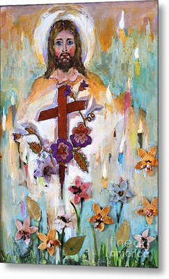 Cross Of Christ Metal Print by Mary Spyridon Thompson