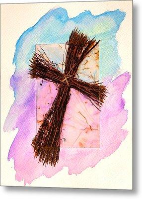 Cross Of Sticks Metal Print by Pattie Calfy