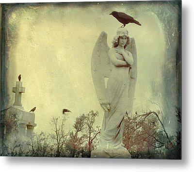 Cross Or Angel Metal Print by Gothicrow Images