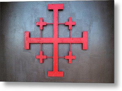 Cross Symbol On The Wall Of St. John Metal Print