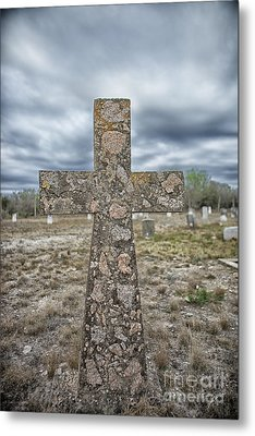 Cross With No Name Metal Print