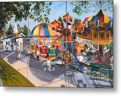 Crossbay Amusement Park Metal Print