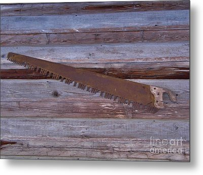 Crosscut Saw Metal Print