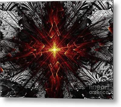 Metal Print featuring the digital art Crossed by Arlene Sundby