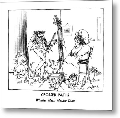 Crossed Paths Whistler Meets Mother Goose Metal Print