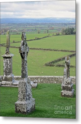 Crosses Of Cashel Metal Print by Suzanne Oesterling