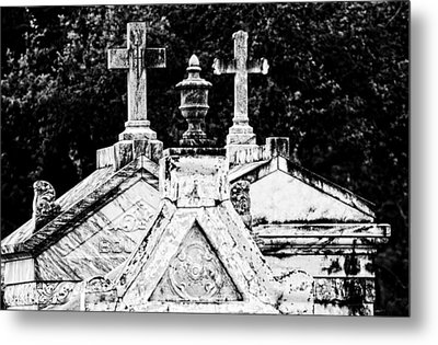 Crosses Of Metairie Cemetery Metal Print by Andy Crawford