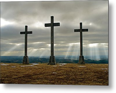 Metal Print featuring the photograph Crosses by Rod Jones
