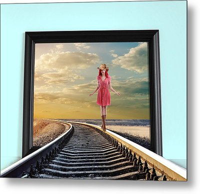 Crossing Over Metal Print by Nina Bradica