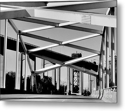 Crossing Over Under Over Crossing Metal Print by Lin Haring