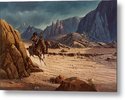 Crossing The Border Metal Print by Michael Humphries